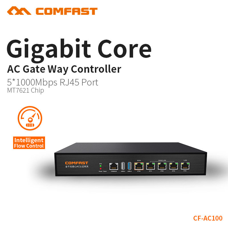COMFAST Full Gigabit Core Gateway AC gateway controller MT7621 wifi project manager with 4*1000Mbps WAN/LAN port 880Mhz CF-AC100 стоимость