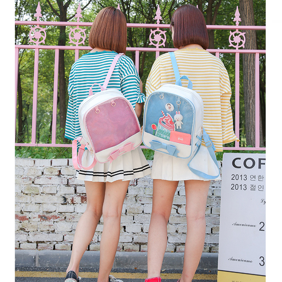 Clear Transparent Mini Backpack For Girls
