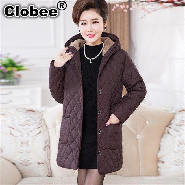 b2219302ba US $38.99 49% di SCONTO|Clobee 6xl 5XL Plus Size Abbigliamento Donna Parka  Nuovo autunno donne giacca invernale cappotto vestito top cappotti parka ...