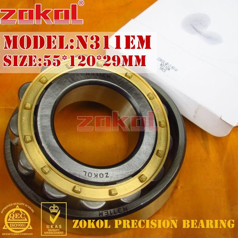 ZOKOL N311 E M bearing N311EM 2310EH Cylindrical roller bearing 55*120*29mm