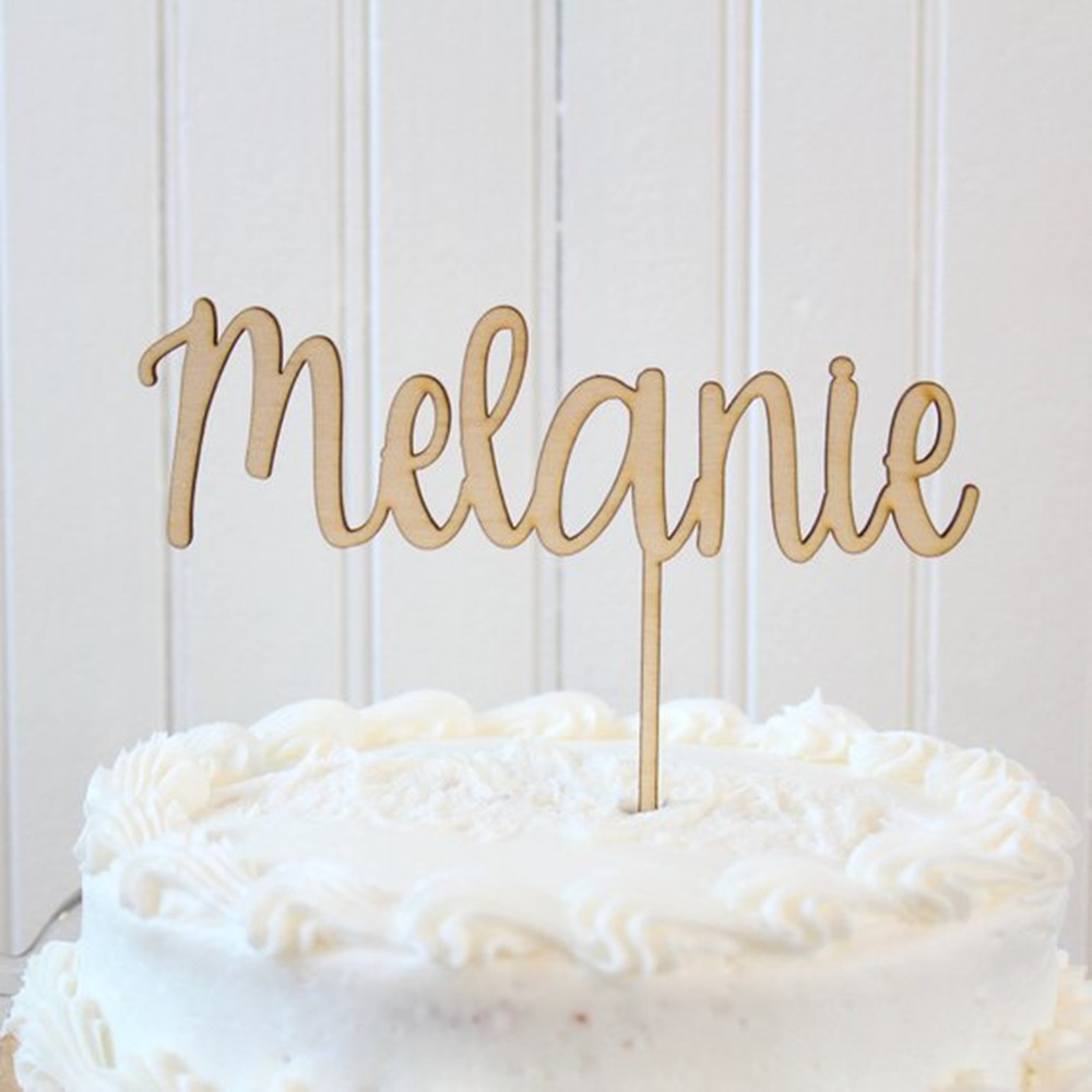 Custom Name Birthday Cake Topper Happy Birthday Supplies Wooden Cake Decoration for Birthday Party CelebrationCustom Name Birthday Cake Topper Happy Birthday Supplies Wooden Cake Decoration for Birthday Party Celebration