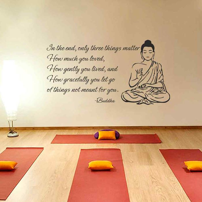 BATTOO Indian Buddha Large Wall Decals - Only Three Things Matter ...
