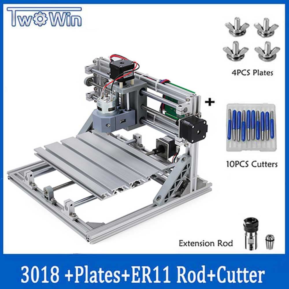 Wood Router DIY Mini Engraving Machine CNC3018 With ER11 Laser Engraving Pcb PVC Milling Machine,cnc 3018 Best Toys