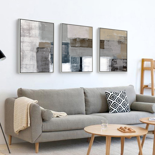 Cuadros decoracion abstracta quadros de parede par quarto tableau