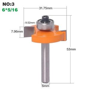 """Image 5 - 1 pc 6mm Shank wysokiej jakości typu """"T"""" herbatniki wspólne gniazdo frez do łączenia/dłutowania Router Bit 3mm, 4 mmHeight frez do drewna pracy"""