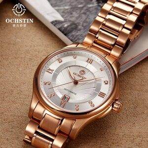 2017, распродажа Ochstin бренд автоматические часы Для мужчин полный Сталь военные Для мужчин спортивные наручные часы Механические Роскошные ...
