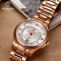2017 sprzedaż marka ochstin automatyczny zegarek mężczyźni pełna stal wojskowy męska sportowe zegarki na rękę mechaniczne luksusowe Relogio Masculino