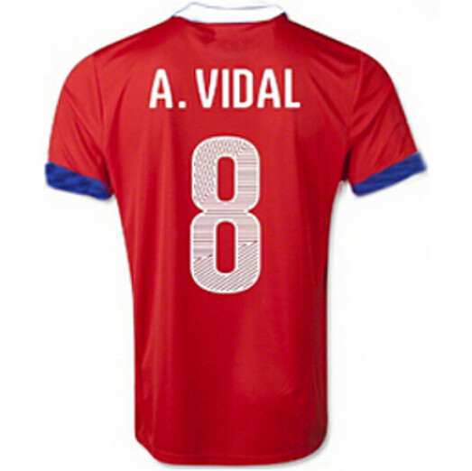 3dcc7166b Chile Jerseys Soccer 7 Alexis Sanchez Football Shirt 8 Vidal 9 SUAZO 10  Valdivia 11 Vargas MEDEL Camisas de futebol Custom Name-in Soccer Jerseys  from ...