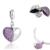 Nova moda coração pingentes genuíno 925 pulseiras de prata esterlina jóias da marca gw fine jewelry s050h30 missangas artesanato pará