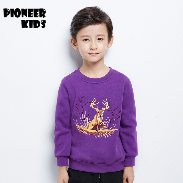Pioneer Kids Teens Hoodies For Boys 4T~16T Autumn/Winter Knitted Outerwear Jackets Long Sleeves High Quality boys Clothing 6T919