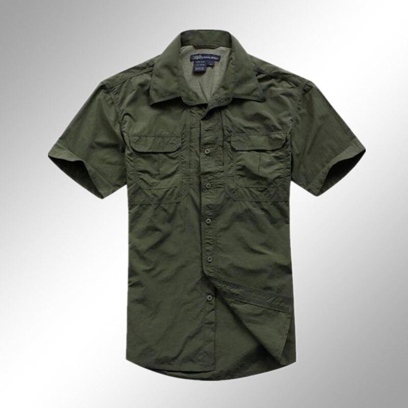 2017 high quality men shirts military tactical shirts spring summer breathable combat shirt Black M XXL