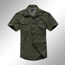 2017 высокое качество мужчины рубашки военные тактические рубашки весна лето дышащий боевая рубашка Черный M-XXL