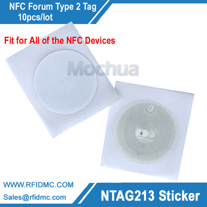 Free shipping Ntag213 Stickers NFC Universal Label Ntag213 RFID Tag for all NFC enabled phones