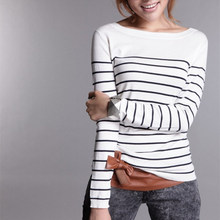 Women's Knitted Cashmere Sweater Plus Size Stripe Wlack White Woman Winter Clothes wool Pullover Base Shirt
