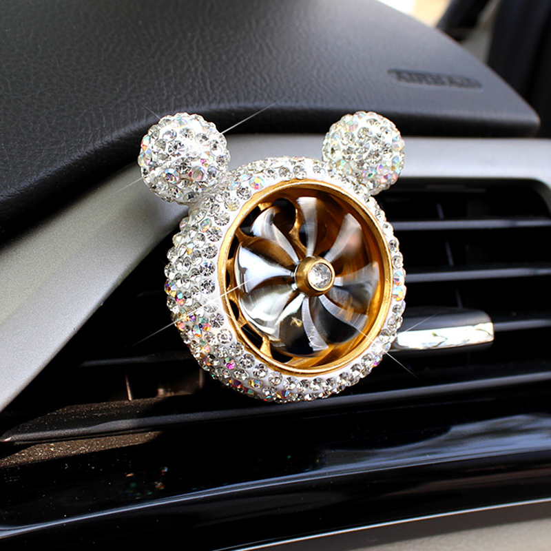 Image 4 - 1 Pcs Crystal Car Air Freshener Auto Outlet Perfume Vent Air Freshener Conditioning Clip Car Fragrance Diffuser Solid Perfume-in Air Freshener from Automobiles & Motorcycles