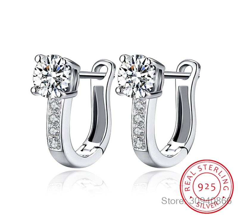 LEKANI 925 Sterling Silver Earrings Anniversary Channel Eternity Earrings New Fine Jewelry Gift For Girlfriend 2018 Hot