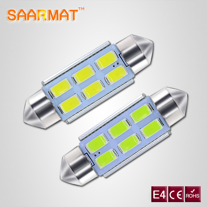 2x For Volkswagen VW Golf 4 5 Passat 3B 3BG 3C CC Polo 9N T5 Eos C5W 36mm Canbus Ingen feil Lisensnummer Plate Light LED-pære