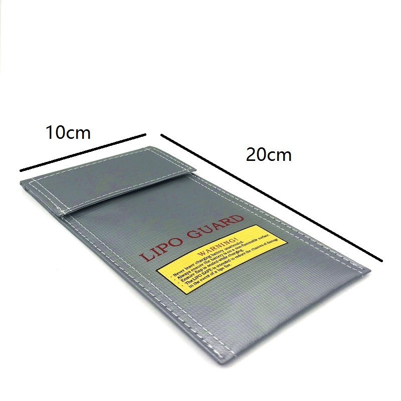 Lipo Battery Bag RC Lipo Safe Guard Battery Guard Charging Protection Bag Explosion Proof Sack Pouch Protector <font><b>100*200</b></font> image