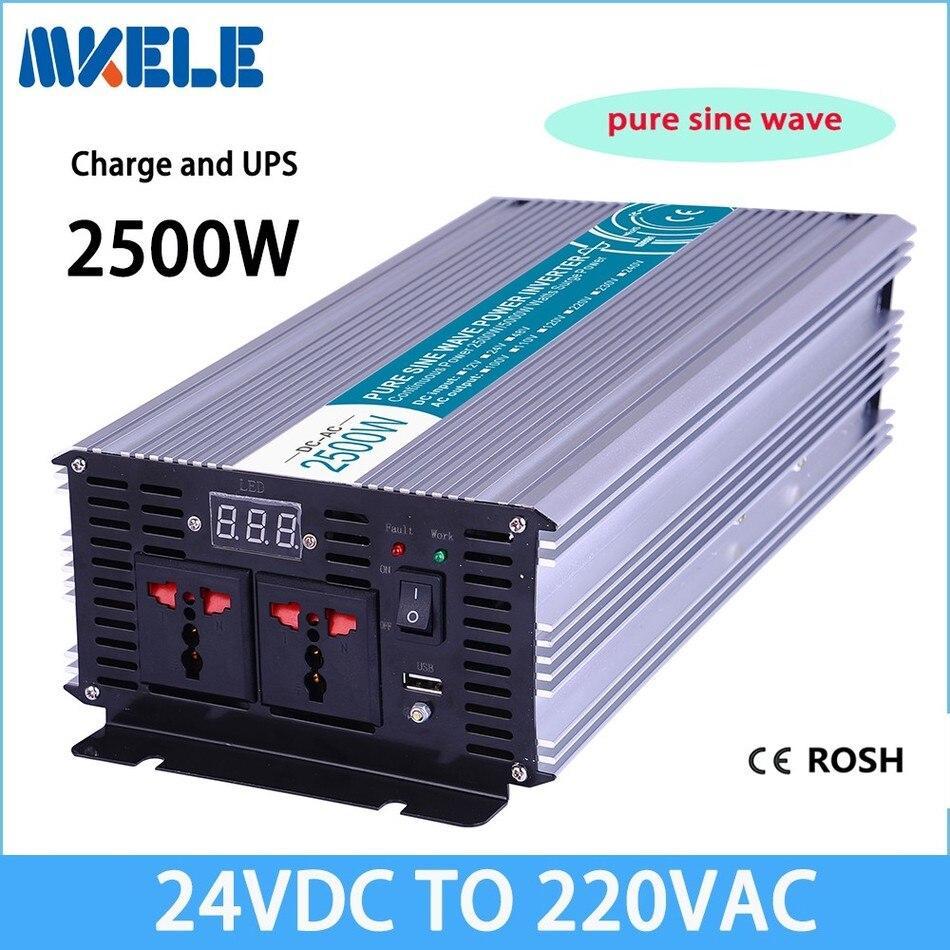 MKP2500-242-C 2500W pure sine wave inverter 24v 220v solar inverter voltage converter with charger mkp2500 242b c 2500w pure sine wave inverter 24 220 inverter 24v car inverter 24v 220v power inverter design with charger
