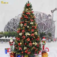 Teellook 3,0 m-4,0 m lujosa decoración de cifrado árbol de Navidad Interior Exterior arreglo de Navidad escena