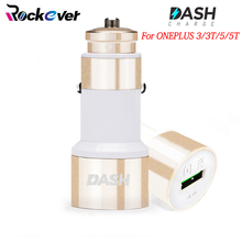 Rockever Dash Car Charger 5V/4A USB Quick Charger Adapter For Oneplus 3 3T 5 5T OPPO,Aluminum USB Car Phone Fast Charger