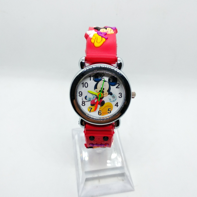 Children Learn To Time Watches For Kids Boys Girls Clock Fashion Mickey Spiderma