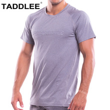 Taddlee Brand Mens T shirts Muscle Fitness Bodybuilding Workout Clothes Sports Gym Top Tee Shirts Short Sleeve Soft High Stretch