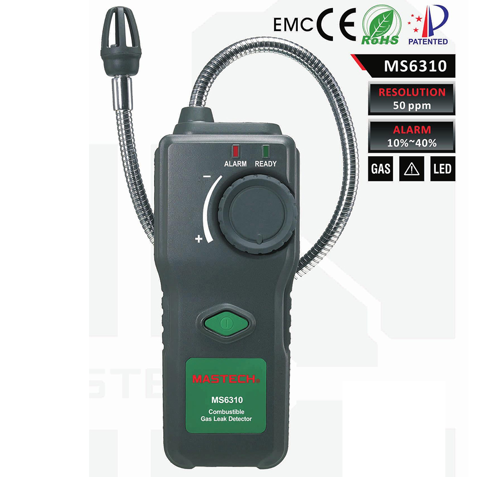 MASTECH MS6310 Portable Combustible Gas Leak Detector Natural Gas Propane Gas Analyzer With Sound Light Alarm