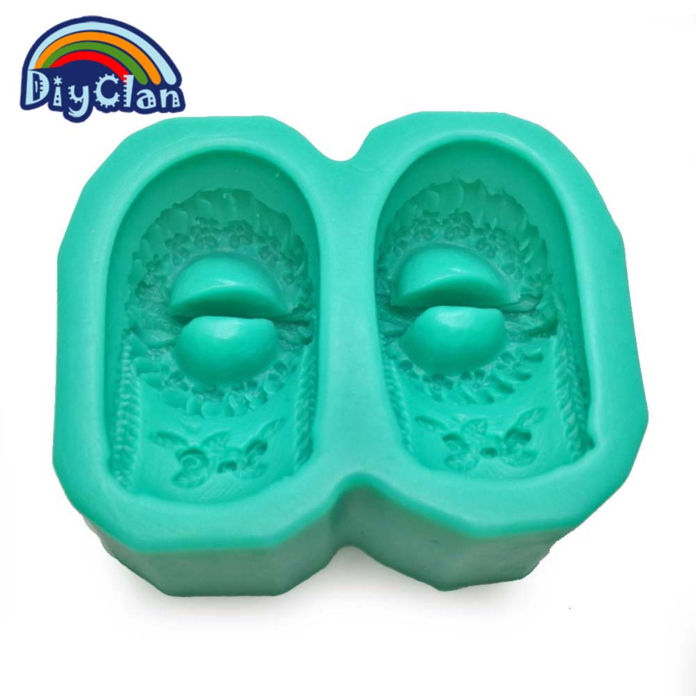 Hot Sale DIY silicone molds for cake pudding jelly dessert chocolate candle mold 3D dance shoes handmade soap mould S0185XZ20
