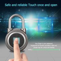 Smart Fingerprint Lock Bluetooth Phone APP Padlock USB Chargeable Keyless Lock For Suitcase Door bicycles Cabinet Bag Truch