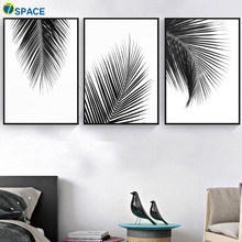 Tropical Plants Palm Leaves Wall Art Canvas Painting Nordic Posters And Prints Black White Pictures For Living Room Decor