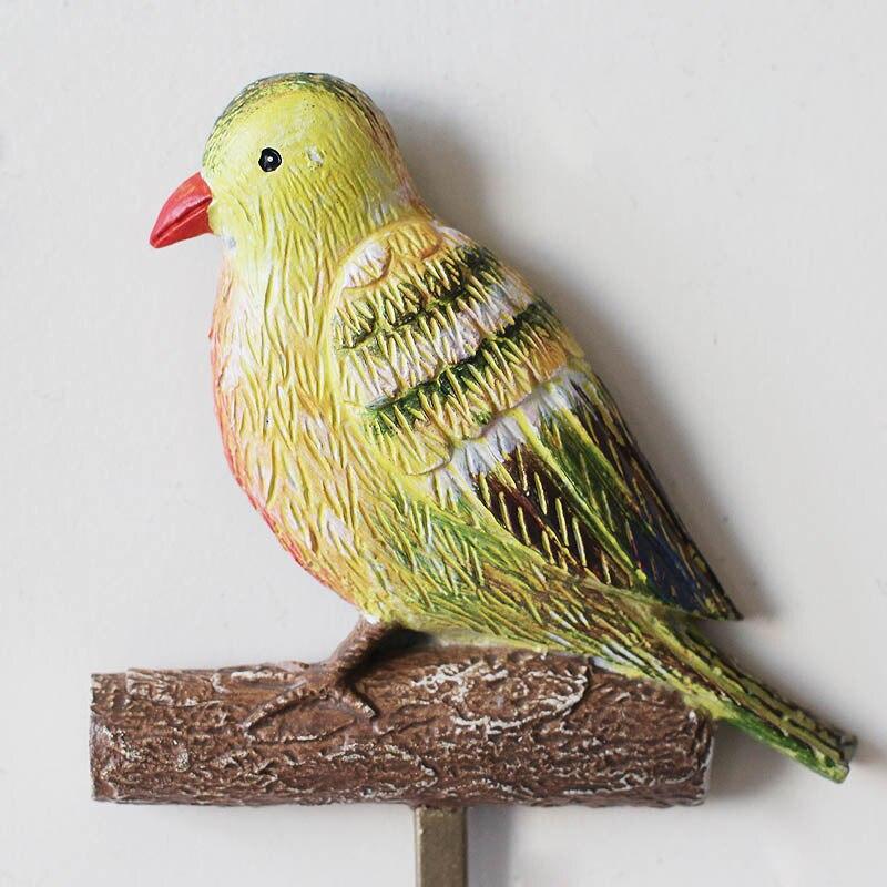 High Load bearing Creative Hook Bird design resin coat hanging ...