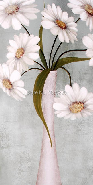 Hand Painted Canvas Flower Picture Fabric Painting Modern Paintings