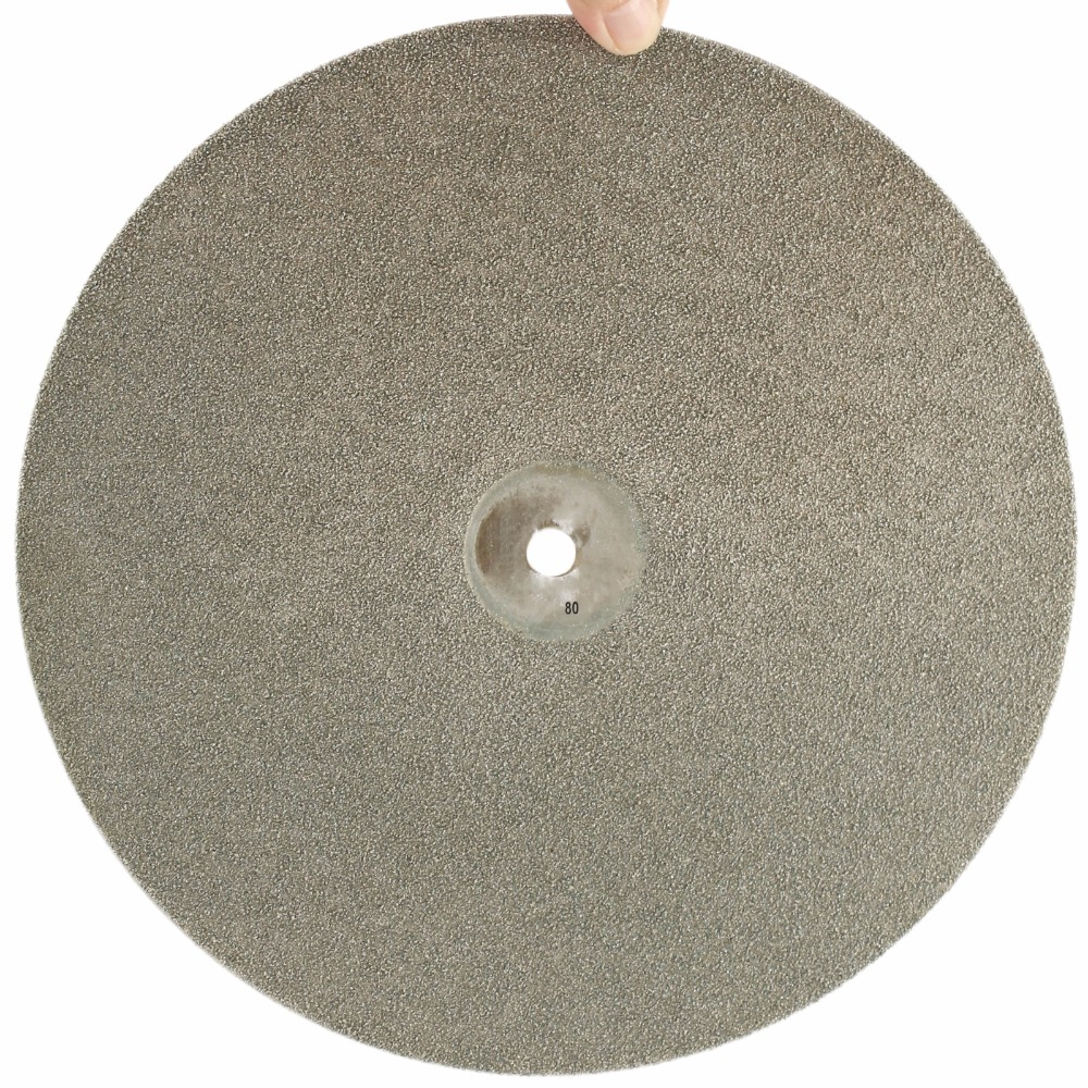 14 inch 350mm Grit 80-1000 Diamond Grinding Disc Wheels Coated Flat Lap Disk Lapidary Jewelry Tools for Stone Gemstone Glass 100mm cylinder diamond grinding head coated cylindrical burr bit mounted points shank 8mm lapidary tools for stone gemstone jade