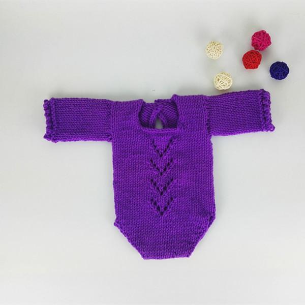 Prop Recém-Nascido romper Do Bebê romper manga longa com detalhe rendado-bebê em geral-foto do bebê prop