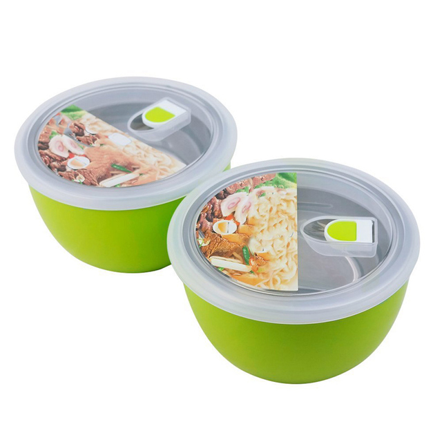 Wholesale 2 Bowls Icarekit Stainless Steel Lunch Box Food Storage