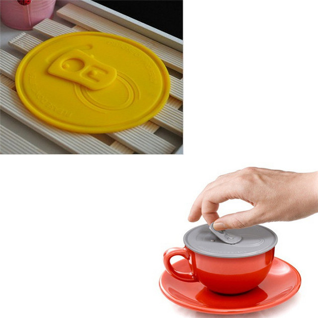 Easy-pulled Silicone Cup Lid Keep Your Stuff Hot And Fresh Novelty Anti-dust Leak-proof Cup Cover For Coffe Dust Seal Mug Lid