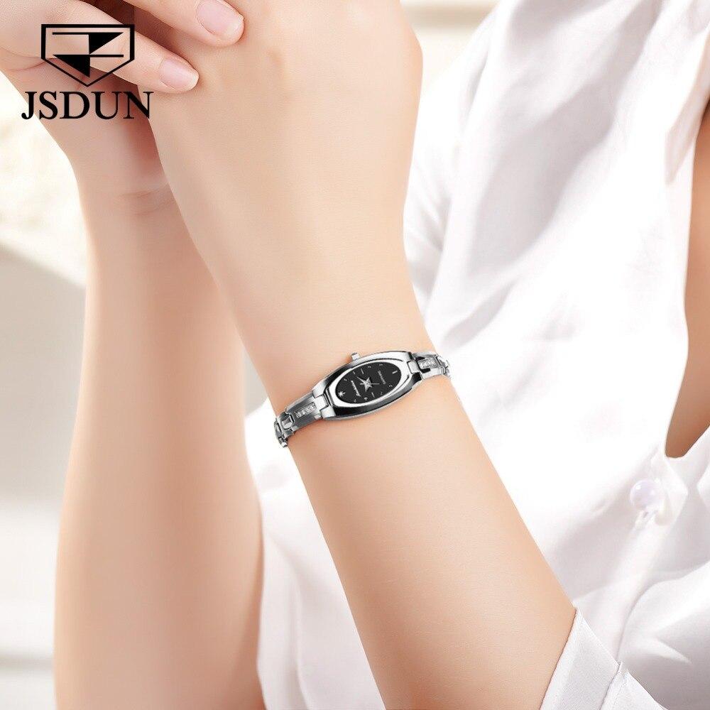 JSDUN женские часы женские модные часы 2019 Geneva дизайнерские женские часы люксовый бренд бриллиантовые кварцевые наручные часы женские - 6