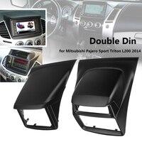 Car Dvd Stereo Radio Panel Frame Mounting Kit For Mitsubishi Pajero Sport For Triton L200 2014