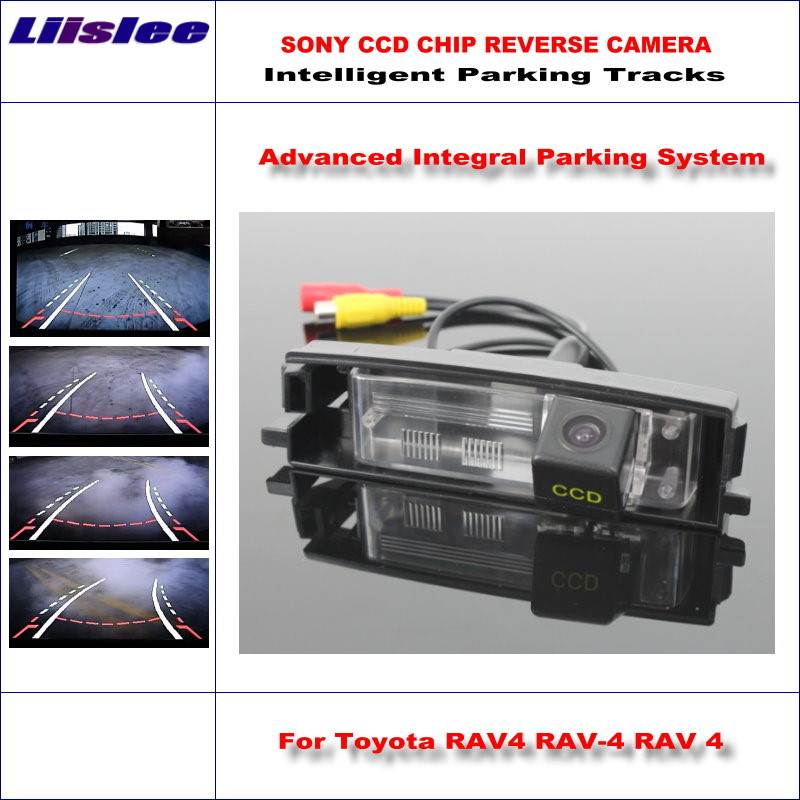 Liislee Backup Rear Reverse Camera For Toyota RAV4 RAV-4 Toyota Vanguard 2006~2012 HD 860 Pixels Intelligent Parking Tracks new set 4 89341 30010 b5 pdc parking distance sensor reverse assist for toyota