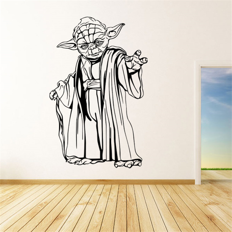 star wars yoda wall sticker. Black Bedroom Furniture Sets. Home Design Ideas