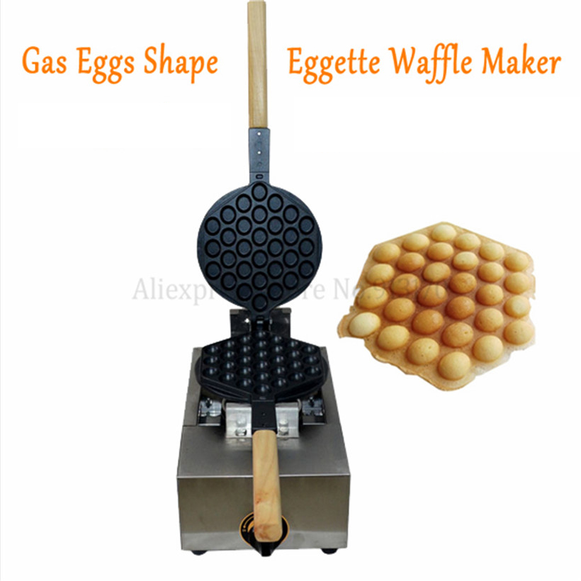все цены на Eggette Waffle Machine Egg Waffle Stainless Steel Kitchen Appliance Gas Egg Puff Waffle Maker Baker
