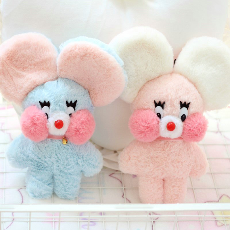 Soft Korea Ins Cafe Mimi Mouse Plush Doll Stuffed Animal Pink Bunny Big Ear Red Cheek Baby Toys For Children Birthday Gift Girls