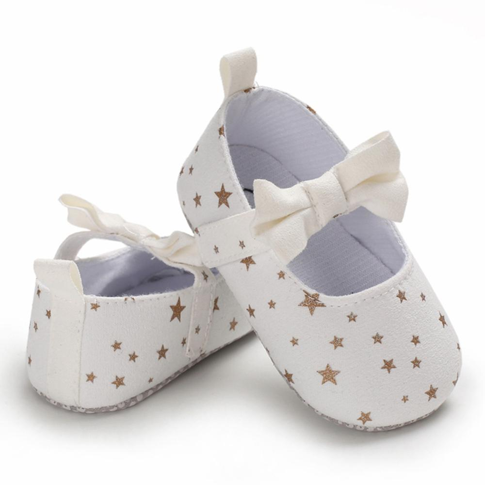 Baby Girls First Walkers for Newborn Autumn Soft Sole Non-Slip Infant Bowknot Princess Shoes Sneakers 0-18M New