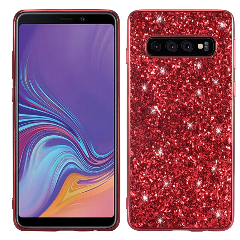 S10 Bling Case for Samsung Galaxy S10 Plus Glitter Case for Samsung Galaxy s10e Shiny Back Case 3D Touchable Glitter Case S10