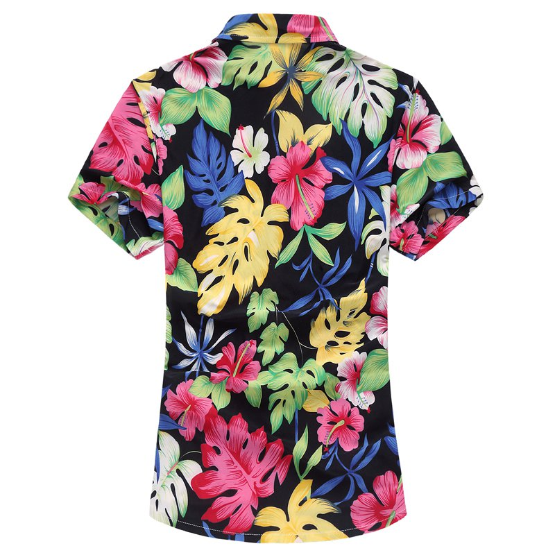 e4a45ceb6b94 Aliexpress.com   Buy EDSON ARANTES Holiday Hawaiian Shirt Men 2018 Summer  Short Sleeve Floral Shirt Plus Size 6XL 7XL Casual Slim fit Camisa hombre  from ...