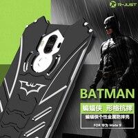 R-JUST BATMAN trường hợp điện thoại Cho huawei mate 9 trường hợp Thương Hiệu trường hợp Áo Giáp kim loại bảo vệ điện thoại bag case đối với huawei mate 9 bìa