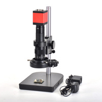 13MP HDMI 1/3inch CMOS HD VGA Digital Industry Video Inspection Microscope Camera Set+180X C mount Lens+56 LED Light+table stand