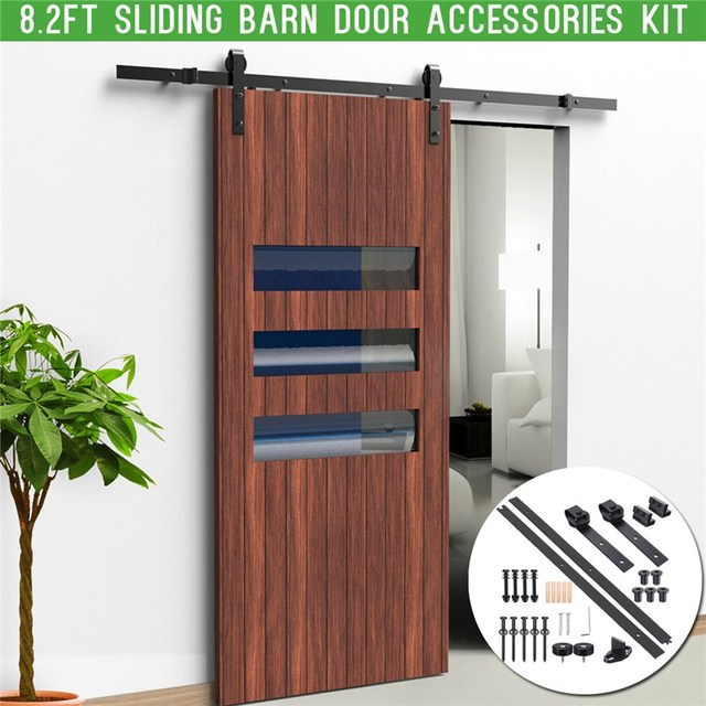 82ft 25m Sliding Barn Door Hardware Interior Closet Track Carbon