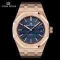 Didun mens relojes de lujo marca de relojes de cuarzo hombres de la moda casual reloj luminoso de acero completo relojes de pulsera resistente al agua